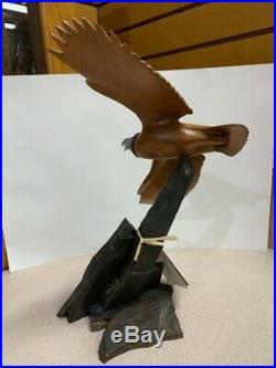 Big Sky Eagle wood carving (Lofty Surveyor) 804/1250