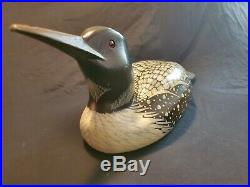 Big sky carvers loon duck decoy carved & signed by Craig Fellows
