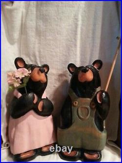 Bigsky Carvers wood Bears Bernie and Gert