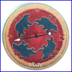Black Bear Motif Wall Clock Rustic Western Native by Big Sky Carvers Fusion 12.5