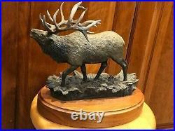 Bradford Williams The Heard Bull Elk Bronze Sculpture 157/1250 Big Sky Carvers