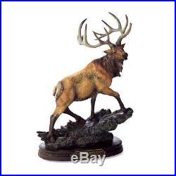 Bridger Creek Rogue Elk American Wildlife Big Sky Carvers Stonecast Sculpture