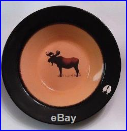 Brushwerks Stoneware 13.25 Inch Serving Bowl by Big Sky Carvers-Moose Pattern