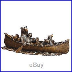 Canoe Trip Sculpture ByJeff Fleming Big Sky Carvers 30149902 NIB