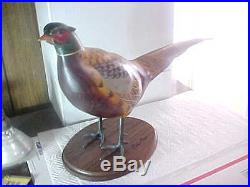Chris Olson Big Sky Carvers Masters Edition Wood Pheasant Signed Numbered