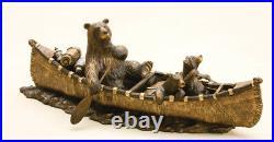 DEMDACO Bear Canoe Trip Sculpture