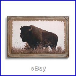 DEMDACO Big Sky Carvers Denver Bryan Barnwood Gallery Buffalo Print, 36x24