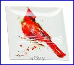 Demdaco B5050119 Big Sky Carvers Cardinal Snack Plate, Multicolored