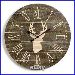 Demdaco Big Sky Carvers Gallery Large Whitetail Deer Wall Clock, 31.5 D