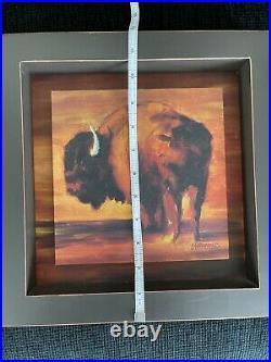 Diane Whitehead For Big Sky Carvers Bison Shadow Box Wall art