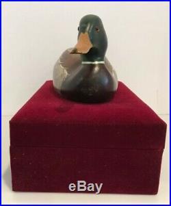Ducks Unlimited 1998 Big Sky Carvers Wooden Mallard Special Edition