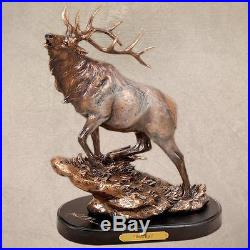 Elk Herd Bull Marc Pierce Handcast Big Sky Carvers Sculpture NIB