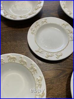 Equine Elegance Carol Grende Big Sky Carvers Horses Ivory Cream set 4 bowls LOT