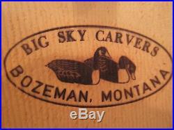 Extra Nice Big Sky Carvers Hand Carved Drake Ruddy Duck Decoy