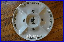 Extremely Rare Big Sky Carvers Woodland Moose By Kerry Hesla Chip & Dip Platter