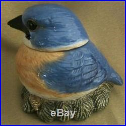 FAT BLUE BIRD by PHILLIS DRISCOLL / BIG SKY CARVERS COLLECTOR COOKIE JAR