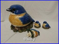 Fat Bluebird by Phyllis Driscoll Big Sky Carvers Ceramic Cookie Jar and More