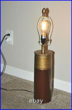 Giant Faux Western Super X Shotgun Shell Lamp Mancave Hunting Theme Decor