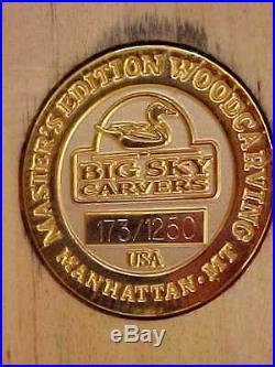 HUGE VINTAGE JOHN GEWERTH BIG SKY CARVERS MASTERs WOOD PINTAIL DUCK Decoy 24
