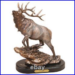 Herd Bull Elk Sculpture