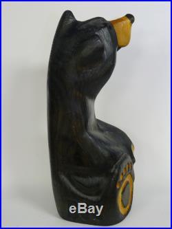 Jeff Fleming Signed Bsc Big Sky Carvers Wood Bear Sculpture 10