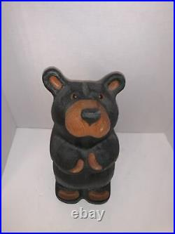 Jeff Fleming Western Pine Wood Big Sky Carvers Hand Carved Bear 13.5 PEETY RARE