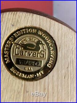 John Gewerth Signed DU Edition 161/1250 Big Sky Carvers Bozeman MT Vintage Decoy