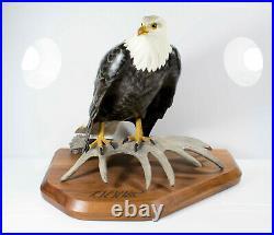 K W White Big Sky Master Carver Bald Eagle Sculpture Limited Edition