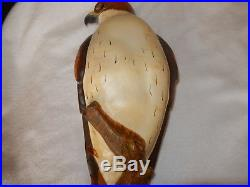 KW White Masters Edition Big Sky Carvers #231/1250 Wooden Bird Falcon 24 x 10