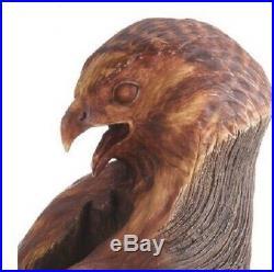 Ken White Redtail Hawk Bird Faux Wood Sculpture Figurine by Big Sky Carvers