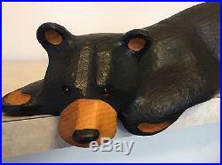 Large Big Sky Carvers Hand Carved Wood Bear Jeff Fleming Montana