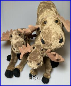 LOT Family Bearfoots Mooses Big Sky Carver 2000 Plush Stuffed Animal 14 12 10