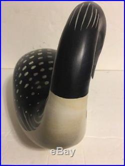 Large Big Sky Carvers Wood Carved Loon Duck Goose Decoy HINDLEY COLLECTION