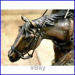 Last Creek Crossing Cowboy Elk Sculpture
