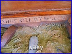 Lg RARE william herrick big sky carvers golf sculpture coffee table reg $1200