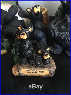 Lot Of 8 Jeff Fleming Big Sky Carvers Bearfoot Bears