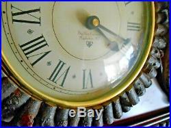 Mantel Clock Big Sky Carvers Montana Lodge Woodsman Deer Antlers CHIMES