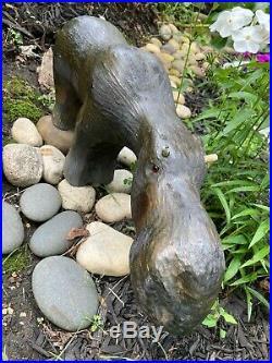 Montana Big Sky Carvers 17 Moose Statue Hand Carved Gem NO Antlers SHEMOOSE Gem