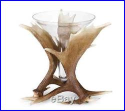 Moose Antler Vase Big Sky Carvers Flower Vase handcast glass Faux Antlers