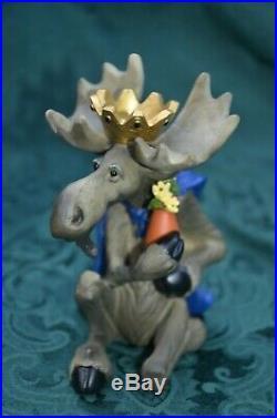 Moosetivity III & one Moose nativity the three wisemen kings Big Sky Carvers