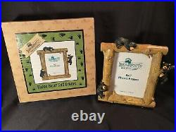 NIB Bearfoots Big Sky Carvers 5x7 Picture Frames by Jeff Fleming Set Of 4