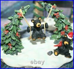 NIB RARE CHRISTMAS PARK 5pc BEARFOOTS-JEFF FLEMING-Big Sky Carvers