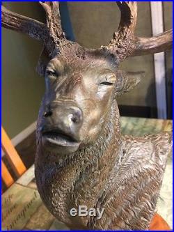 Numbered Scupture of Deer Deep In The Rut by Burl Jones Big Sky Carvers