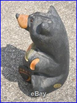 Original Wood Big Sky Bears Carvers Jeff Fleming 15 Tall, With Brass Badge