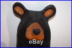 Original Wood Big Sky Carvers Jeff Fleming Bearfoots Bear Toilet Tissue Holder