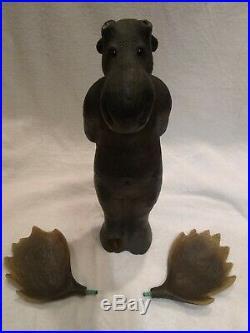 RARE Big Sky Carver Jeff Fleming's Wood Moose Sculpture