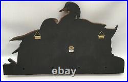 RARE! Big Sky Carvers Ducks Coat Rack Wall 4 Hooks 2002 K. W. White 21