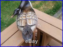 RARE Ducks Unlimited Canadian Goose Decoy Big Sky Carvers 23 x 8 1/2 H