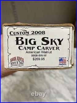 RARE Prototype Custom 2008 Bark River Big Sky Camp Carver American Walnut Bowie