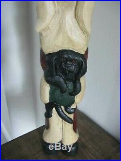 Rare 1996 Big Sky Carvers by Jeff Fleming Santa WithPuppy 25 Tall